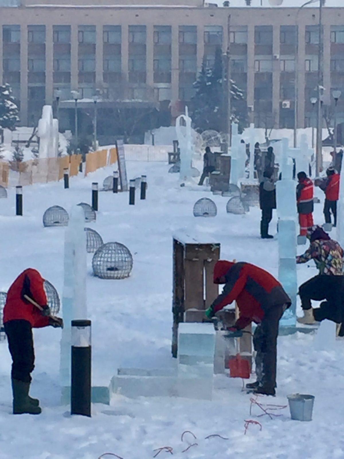 Фото: ВК Фестиваль ледяных скульптур 2021